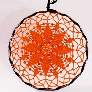 Beaded Crochet Wall Hanging or Decor